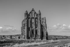 Whitby Abbey, North Yorkshire, het UK Royalty-vrije Stock Afbeeldingen