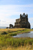 Whitby Abbey. Whitby, North Yorkshire. The town was made famous by Bram Stoker in the book Dracula Stock Photo