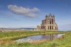 Whitby Abbey North Yorkshire UK Royaltyfri Foto