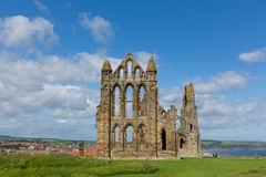 Whitby Abbey North Yorkshire uk ruins in summer tourist town and holiday destination Stock Photo