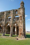 Whitby Abbey in North Yorkshire of the UK. It is ruins of the Benedictine abbey. Now it is under protection of the English Heritage Stock Image