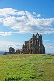 Whitby Abbey of North Yorkshire in the UK. It is ruins of the Benedictine abbey. Now it is under protection of the English Heritage Royalty Free Stock Photos