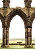 Whitby Abbey. One of the arches at Whitby Abbey. Famous as the landing site for Count Dracula in Brad Stoker's novel. England. UK. Historic Stock Image