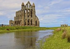 Whitby Abbey, reflektiert Stockfotografie