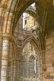 Whitby abbey ruin, yorkshire, uk. Interior of Whitby Abbey ruin in Yorkshire, famous for providing inspiration for Bram Stoker`s Dracula on an overcast day in Royalty Free Stock Image