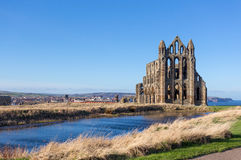 Whitby Abbey. The ruins of Whitby Abbey in Yorkshire, UK, which provided inspiration for Bram Stoker's Dracula Stock Image