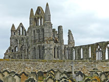 Whitby Abbey from Saint Marys church yard. Whitby Abbey, England from Saint Marys church yard Stock Photo