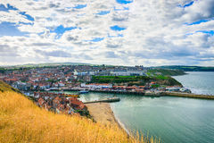 Whitby abbey is a seaside town and port in North Yorkshire Stock Images