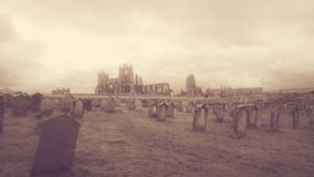 Whitby Abbey In The Spring royalty-vrije stock afbeelding