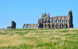 Whitby Abbey. A view of Whitby Abbey ruins, UK. Photo taken April 2015 Stock Image