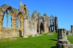 Whitby Abbey. A view of Whitby Abbey ruins, UK. Photo taken April 2015 Royalty Free Stock Photos