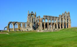 Whitby Abbey. A view of Whitby Abbey ruins, UK. Photo taken April 2015 Stock Photo