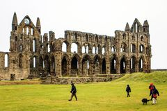 Whitby Abbey, north yorkshire, england. Royalty Free Stock Images