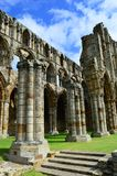 Whitby Abbey. Was a 7th century Christian monastery that later became a Benedictine abbey The abbey and its possessions were confiscated by the crown during the Royalty Free Stock Photo