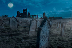 Whitby Abbey, Yorkshire, het UK Stock Foto's