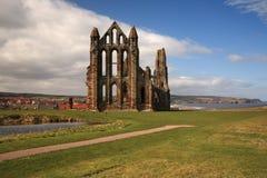 whitby abbeysikt Royaltyfri Bild