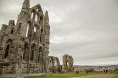 Whitby Abby Yorkshire, England - restna Arkivfoton