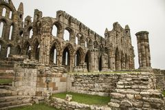 Whitby Abby, Yorkshire - las ruinas Fotos de archivo libres de regalías