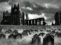 Whitby Abtei stockfotografie