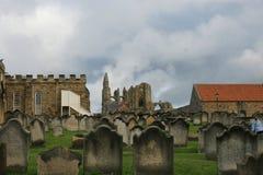 Whitby-Abtei, Nord-Yorkshire, Benediktinerabtei Stockfotos