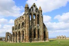 Whitby Abtei, Nordyorkshire, England Stockbild