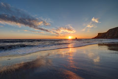 Whitby, alba della costa di North Yorkshire Fotografia Stock