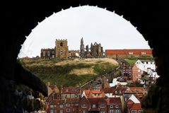 Whitby through the arch Stock Image