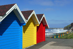 Whitby beach huts Royalty Free Stock Photos