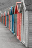 Whitby beach huts Stock Photography