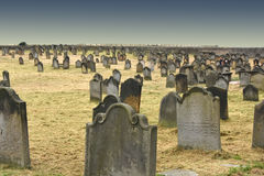 Whitby  cemetery Royalty Free Stock Image
