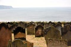 Whitby  cemetery Royalty Free Stock Photos