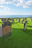 Whitby Cemetery und Nordsee in North Yorkshire in England Lizenzfreies Stockbild