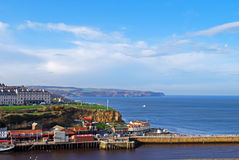 Whitby coast. View over Whitby's coast and part of the harbour Royalty Free Stock Photography
