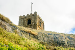 Whitby East Coastal erosion defences Saint Mary's Church Royalty Free Stock Photos