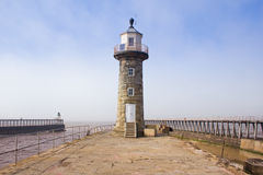 Whitby East Pier and harbour Royalty Free Stock Photo