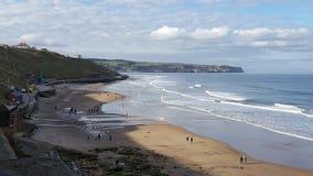 Whitby falezy zachodnia plaża Obraz Royalty Free