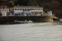 Whitby, Fischereihafen, Küsten- Stadt, Nord-Yorkshire-Küstenlinie, stockfotos