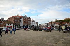 Whitby, fishing port,  coastal town, north yorkshire coastline,. Seaside resort Royalty Free Stock Images