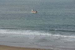 Whitby, fishing port,  coastal town, north yorkshire coastline,. Seaside resort Royalty Free Stock Photos
