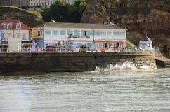 Whitby, fishing port,  coastal town, north yorkshire coastline,. Seaside resort Royalty Free Stock Image