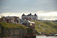 Whitby, fishing port,  coastal town, north yorkshire coastline,. Seaside resort Royalty Free Stock Photo