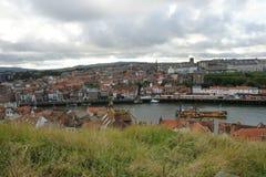 Whitby, fishing port,  coastal town, north yorkshire coastline,. Seaside resort Stock Image