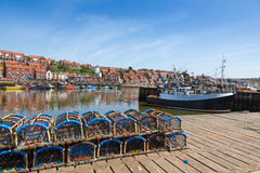 Whitby fishing port Royalty Free Stock Images