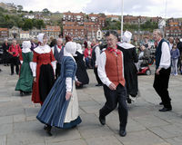 Whitby folk dancers Stock Photos