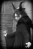 Whitby Goth周末-恶魔使我做它 免版税库存照片