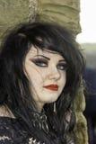 Whitby Goth周末-汉娜 免版税库存照片