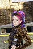 Whitby Goth周末Techno废物 免版税库存图片