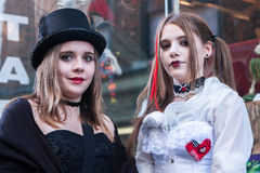 Whitby Goth女孩 免版税图库摄影