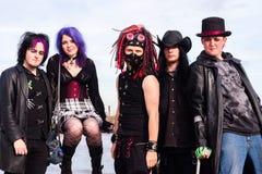 Whitby Goth Teens fotografia de stock