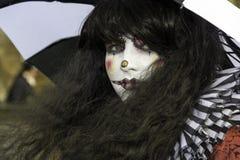 Whitby Goth Weekend - verdraaide de clown Royalty-vrije Stock Foto